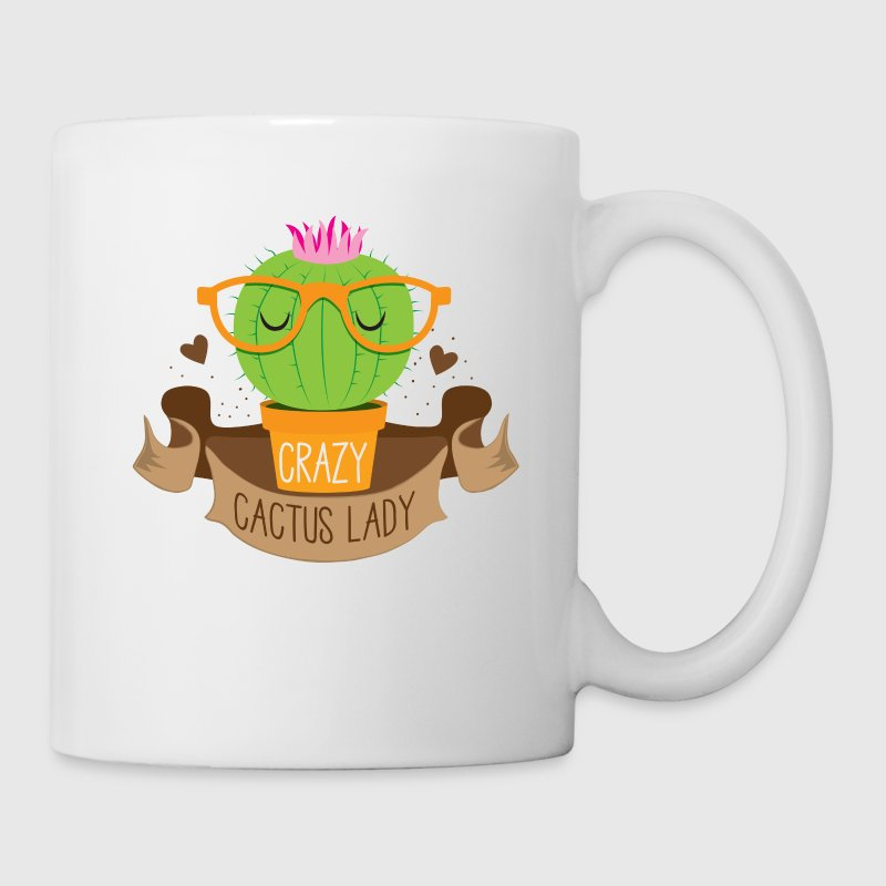 crazy cactus lady banner Mugs & Drinkware - Mug