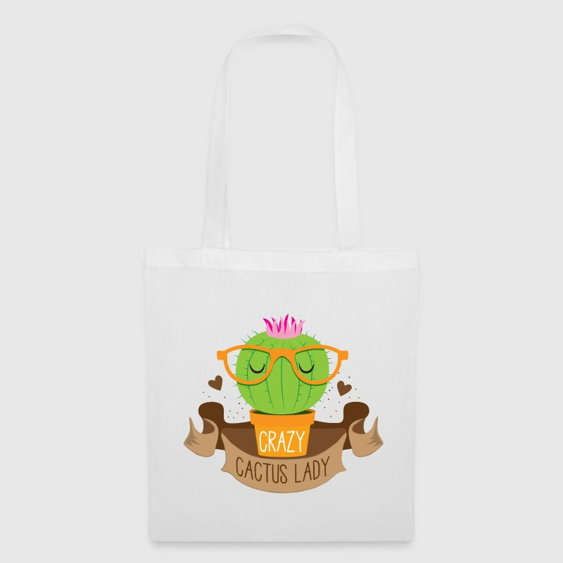 crazy cactus lady banner Bags & Backpacks - Tote Bag