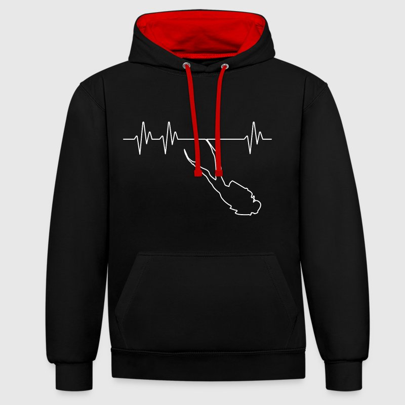 Electrocardiogramme Plongeur Sweat-shirts - Sweat-shirt contraste