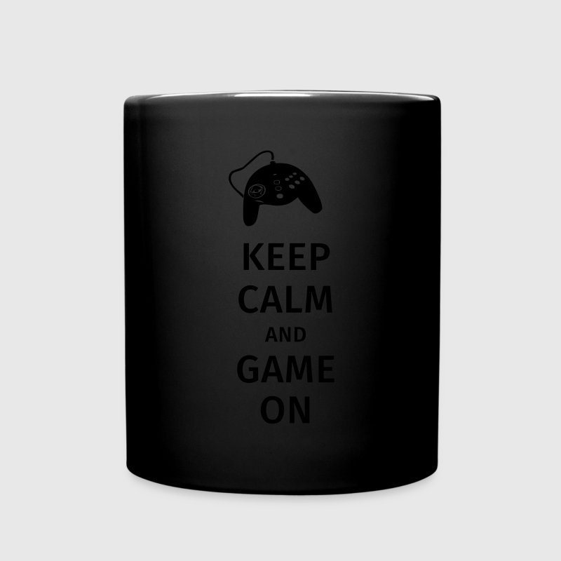 keep calm and game on Krus & tilbehør - Ensfarvet krus