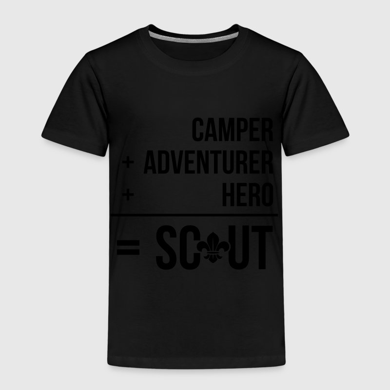 Camper+adventurer+hero = Scout Shirts - Kids' Premium T-Shirt