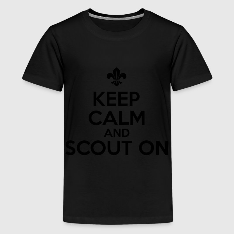 Keep calm and scout on Shirts - Teenage Premium T-Shirt