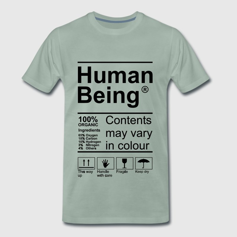 Human Being Product Label T-Shirts - Männer Premium T-Shirt
