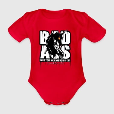 Bad Ass Unicorn Shirts - Baby bio-rompertje met korte mouwen