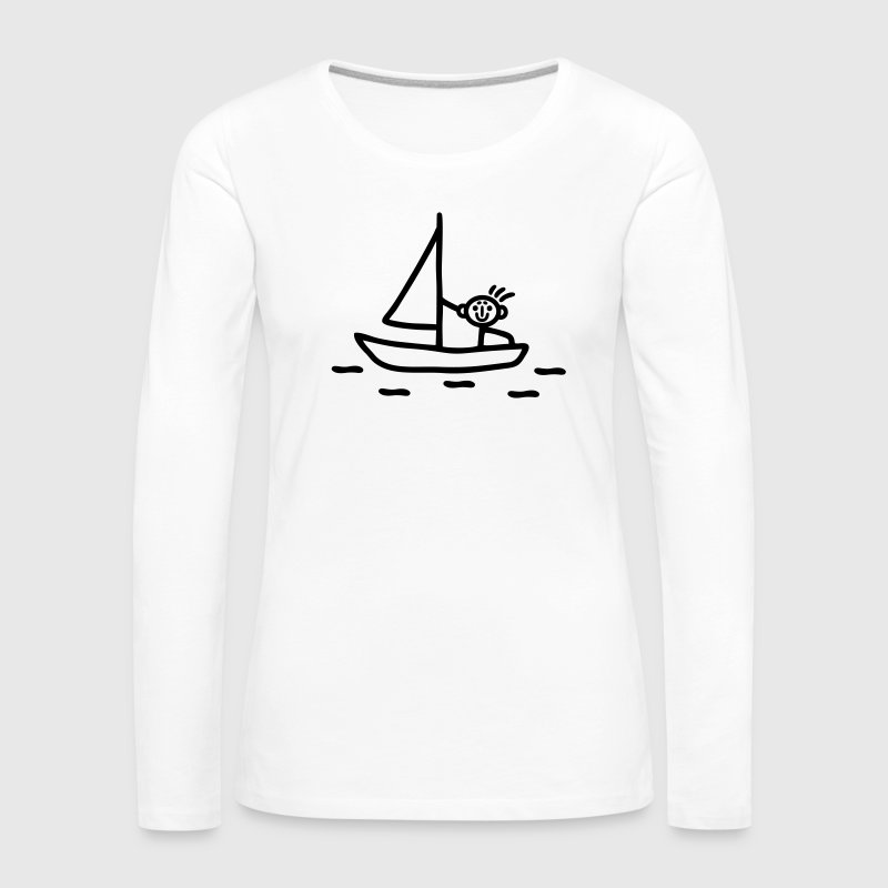 Sail stick figure Long Sleeve Shirts - Women's Premium Longsleeve Shirt