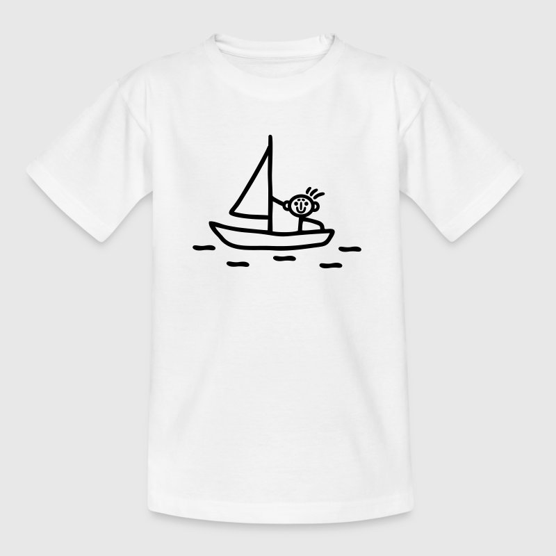 Sail stick figure Shirts - Kids' T-Shirt