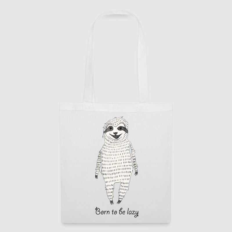 White Born to be lazy Bags & Backpacks - Tote Bag