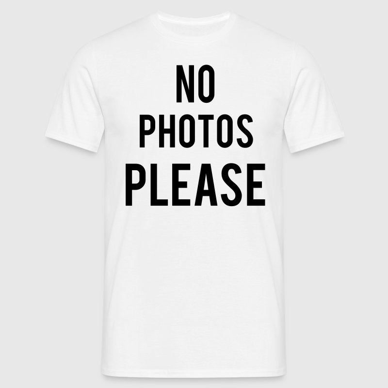 No Photos Please Tee shirts - T-shirt Homme