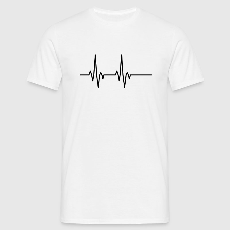 Pulse Heartbeat T-Shirts - Men's T-Shirt