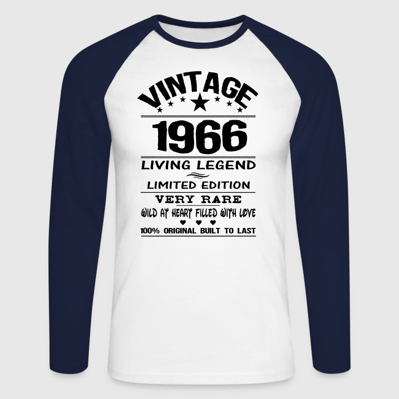 VINTAGE 1966 Long sleeve shirts - Men's Long Sleeve Baseball T-Shirt