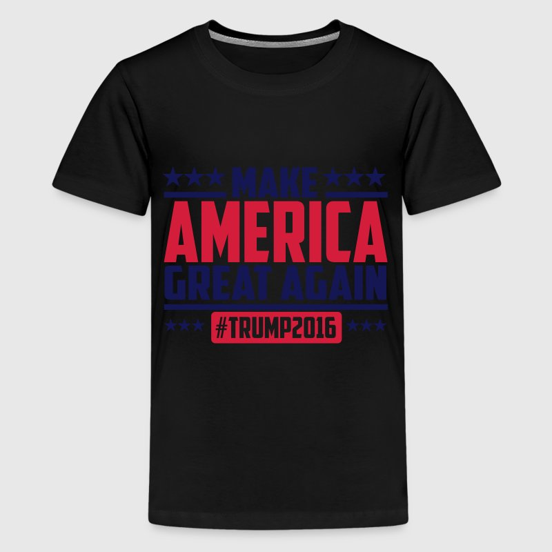 Make america great again trump 2016 T-Shirts - Teenager Premium T-Shirt