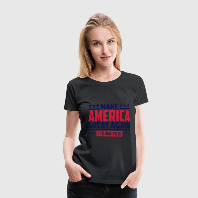 Make america great again trump 2016 T-shirts - Vrouwen Premium T-shirt