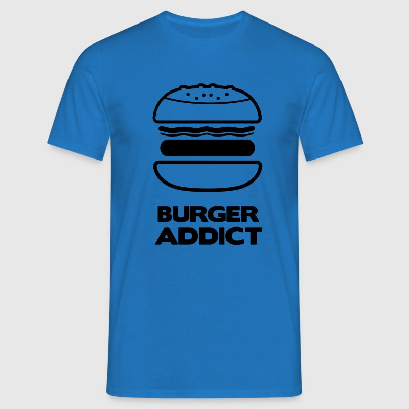 Tee shirt Homme burger addict - T-shirt Homme