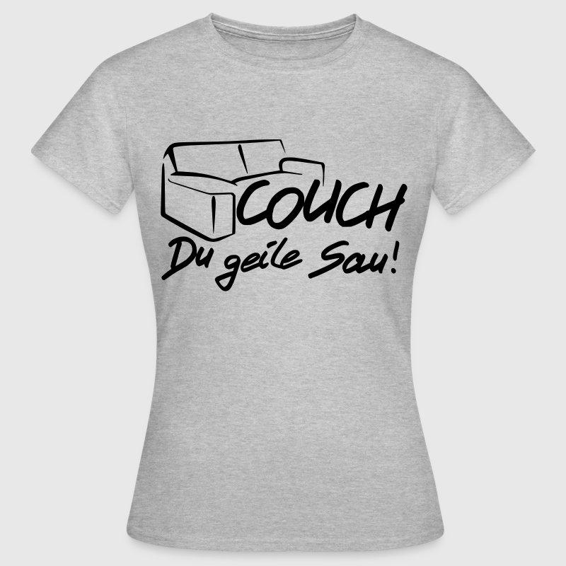 couch du geile sau t shirt spreadshirt. Black Bedroom Furniture Sets. Home Design Ideas