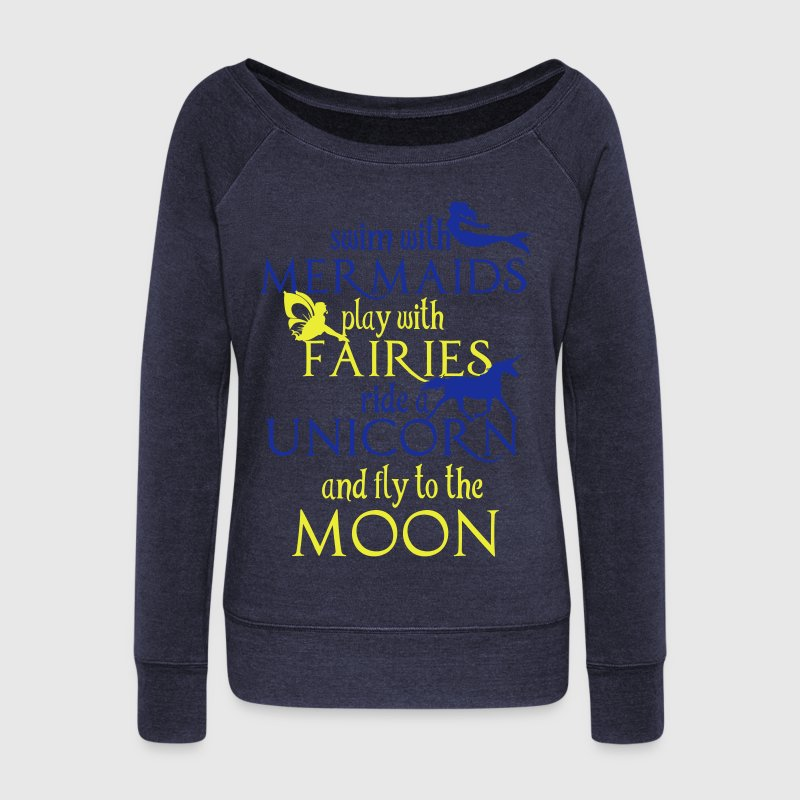 Mermaids, Fairies, Unicorn, Moon Sweaters - Vrouwen trui met U-hals van Bella