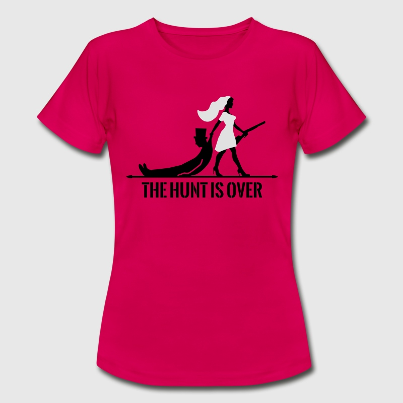 The hunt is over JGA Junggesellenabschied Party T-Shirts - Frauen T-Shirt