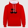 mrs moustache Sweat-shirts - Sweat-shirt contraste
