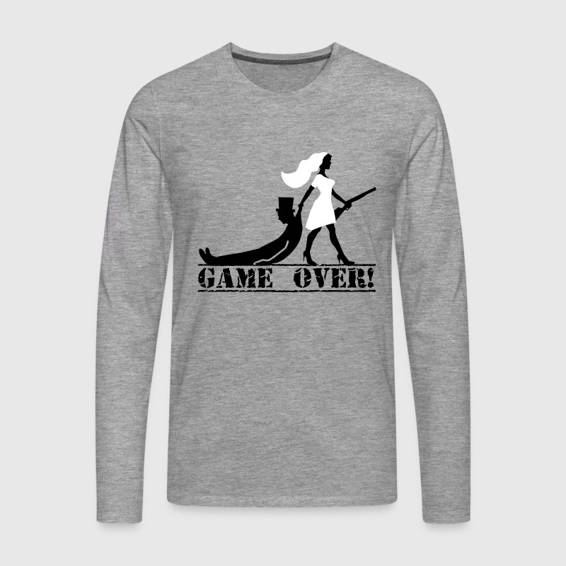 the hunt is over JGA Game over die Jags ist vorbei - Männer Premium Langarmshirt