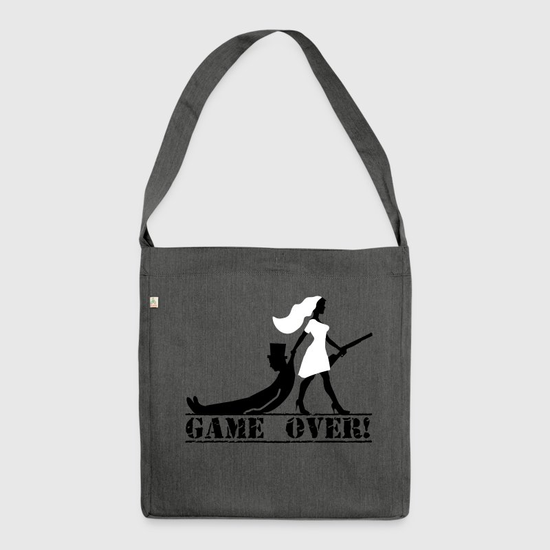 the hunt is over JGA Game over die Jags ist vorbei - Schultertasche aus Recycling-Material