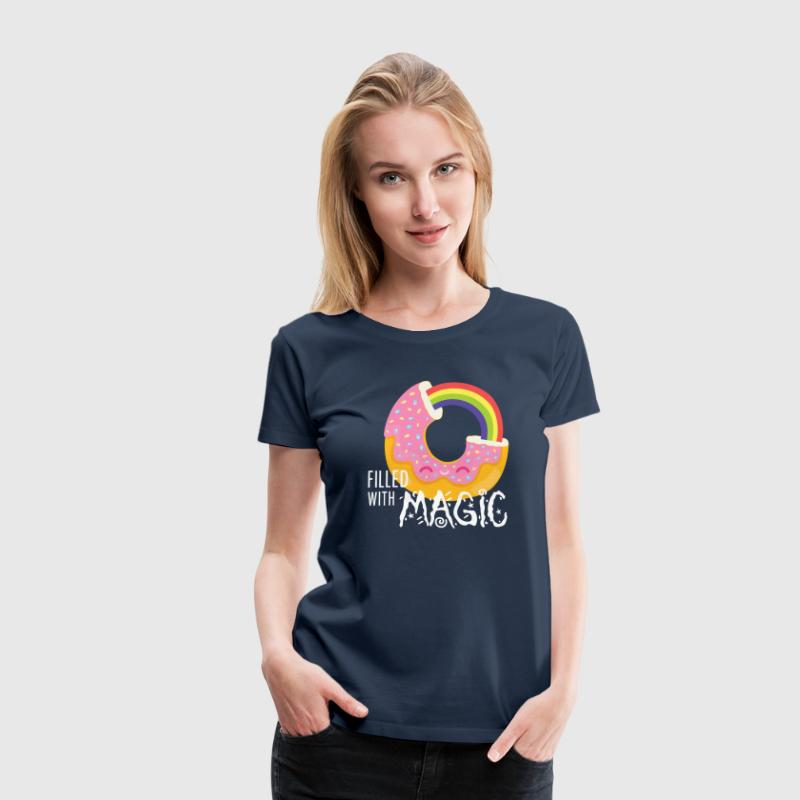 Azúl navy Donut - filled with magic Camisetas - Camiseta premium mujer