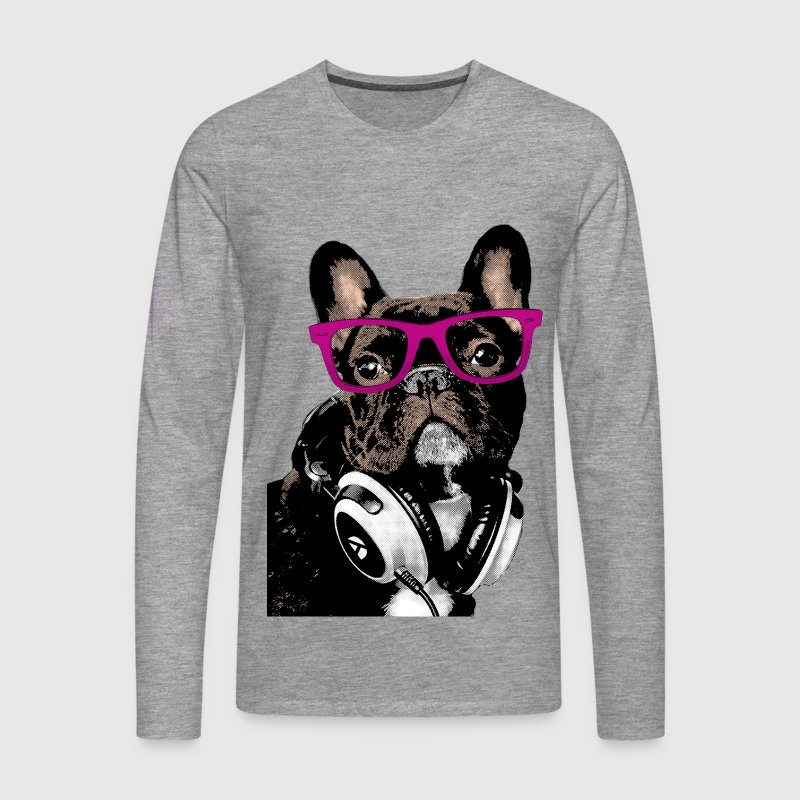 AD Hipster Frenchie Manches longues - T-shirt manches longues Premium Homme