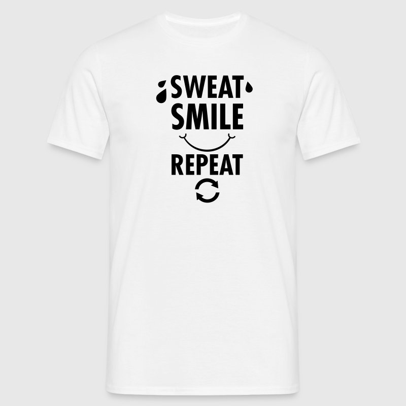 Sweat smile repeat t shirt spreadshirt for Sweat free t shirts