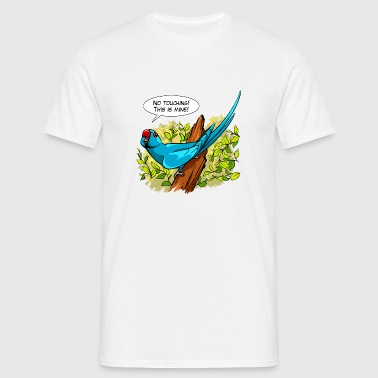 Talking blue ringneck parrot - Men's T-Shirt