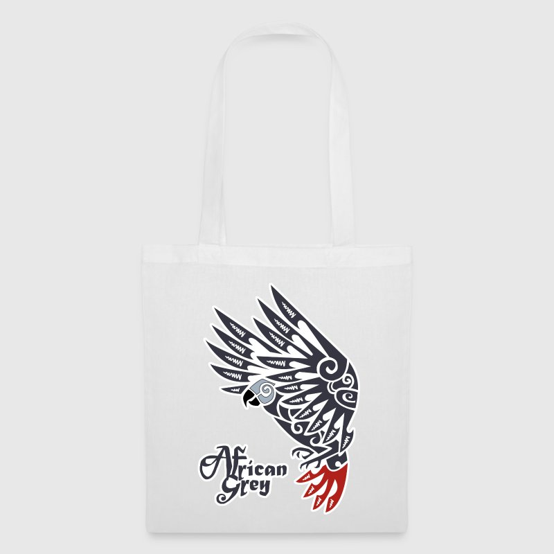 African grey parrot tribal tattoo - Tote Bag