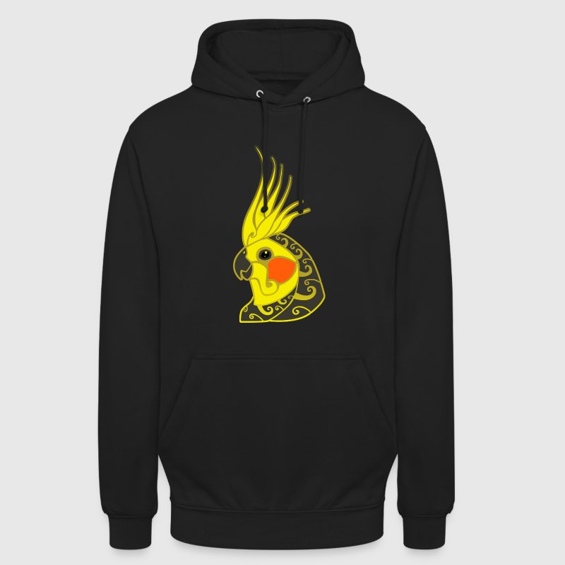 Cockatiel parrot tribal tattoo - Unisex Hoodie