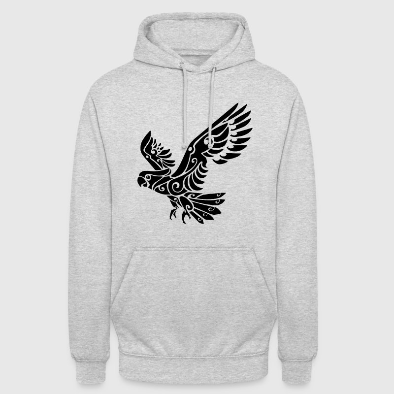 Tribal Cockatoo parrot bird tattoo - Unisex Hoodie