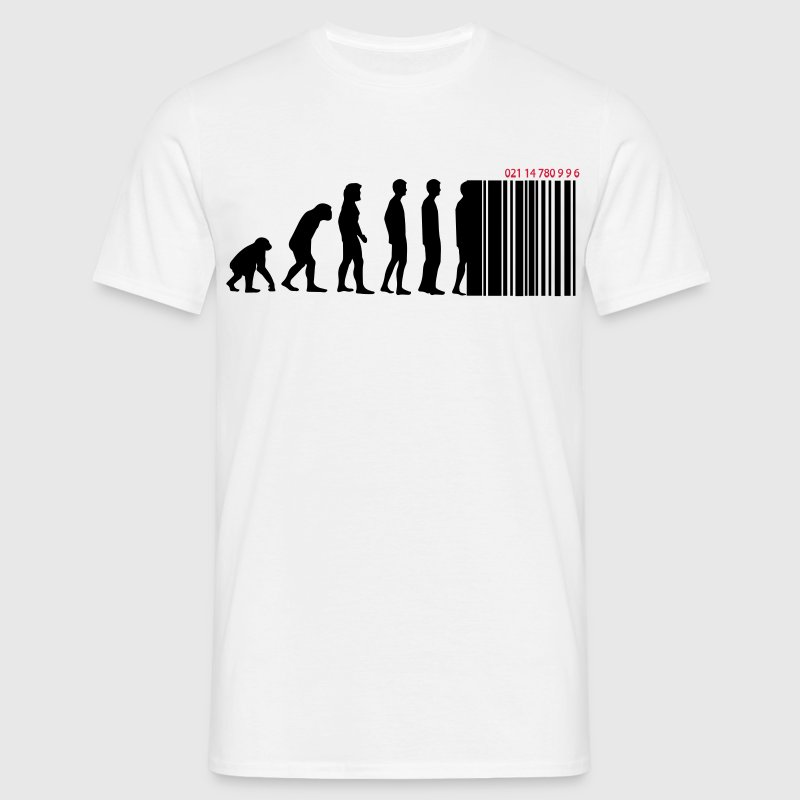 Darwin code barre - evolution - T-shirt Homme
