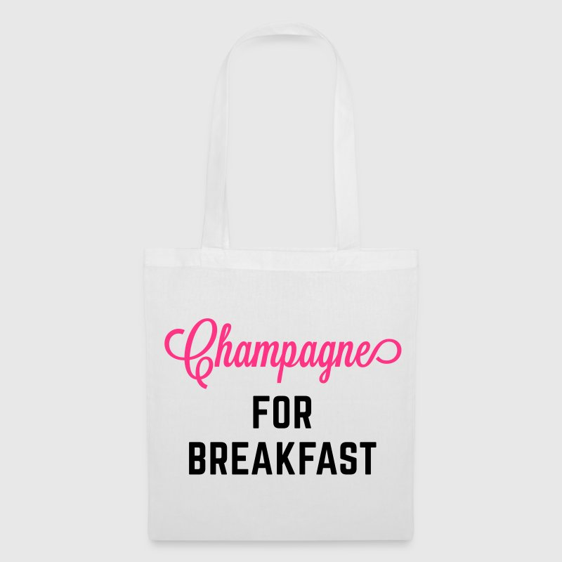 Champagne For Breakfast Funny Quote Bags & Backpacks - Tote Bag