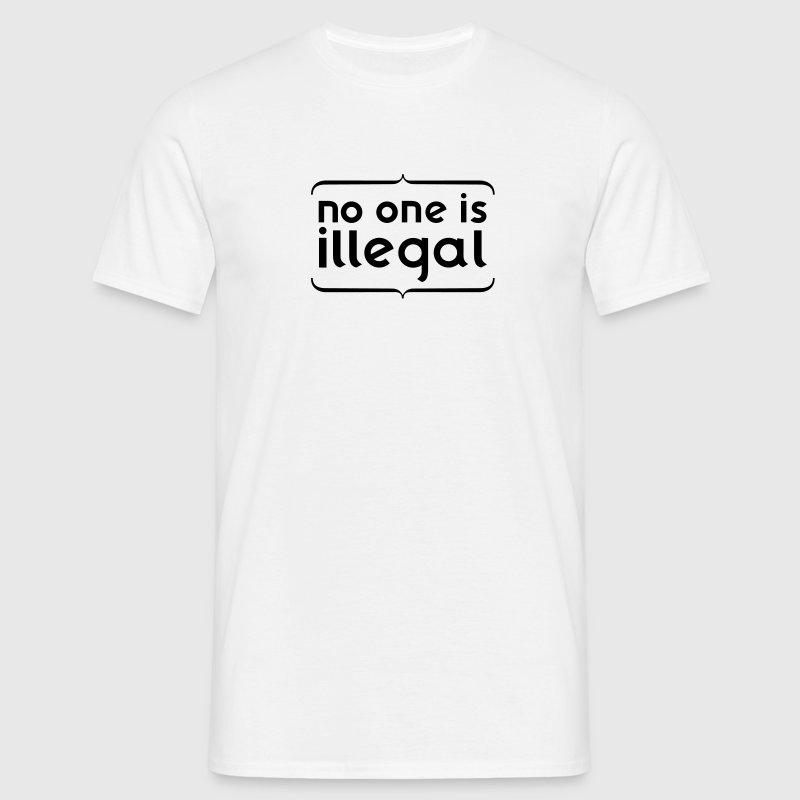 No one is illegal - T-shirt Homme