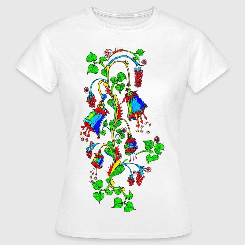 Bellflower, summer, flowers, spring, design T-shirts - Dame-T-shirt
