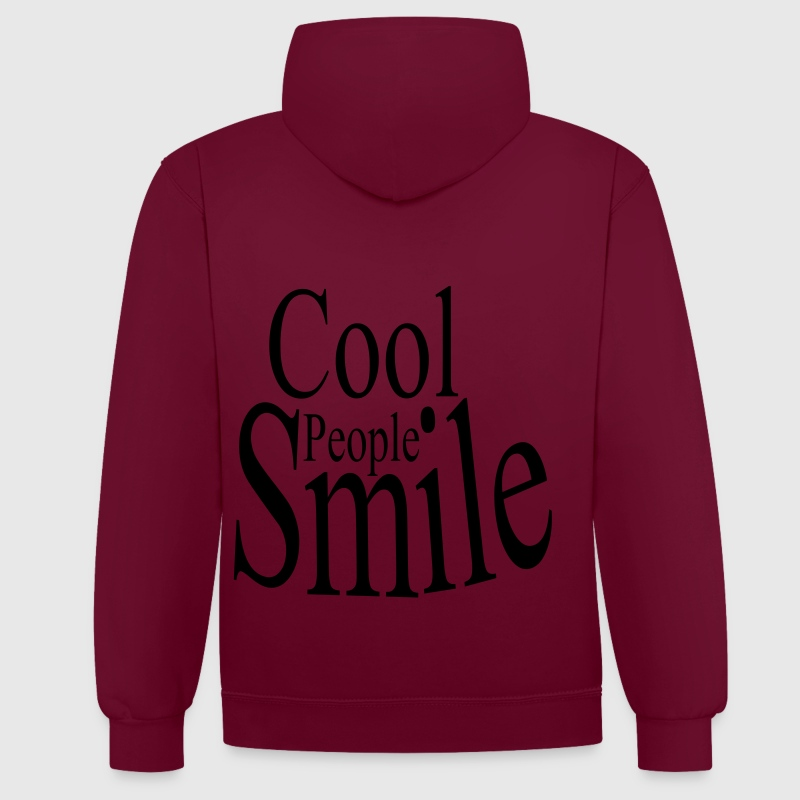 Cool People Smile Pullover & Hoodies - Kontrast-Hoodie