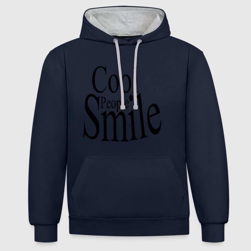 Kontrast Kapuzenpulli Cool People Smile / digitale - Kontrast-Hoodie