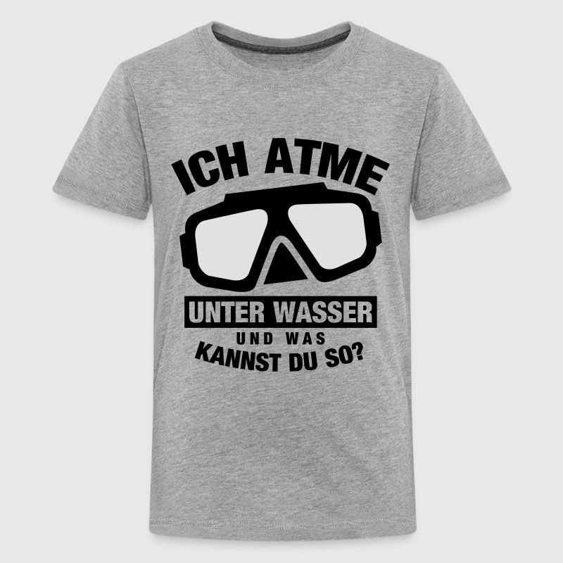 ich atme unter wasser taucher t shirt spreadshirt. Black Bedroom Furniture Sets. Home Design Ideas