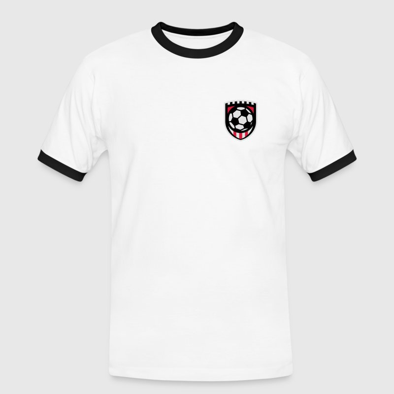 Minimal football logo / coat of arms / flag / badge T-Shirts - Men's Ringer Shirt