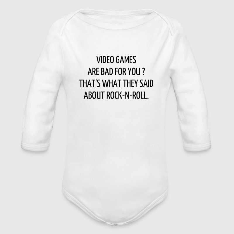 citationstecken  gaming gamer videospel Babybody - Ekologisk långärmad babybody