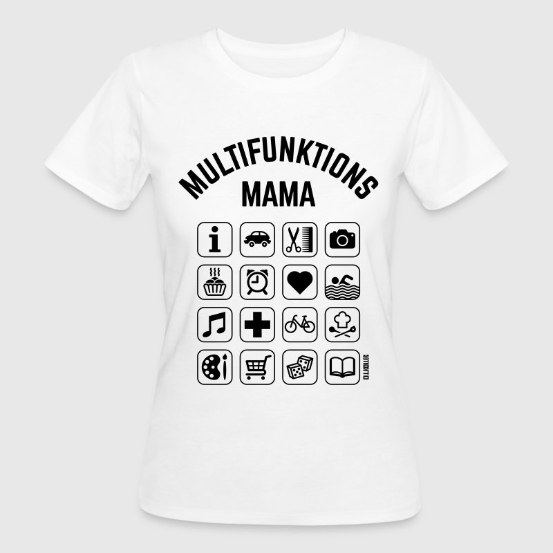 Multifunktions Mama (16 Icons) T-Shirts - Frauen Bio-T-Shirt