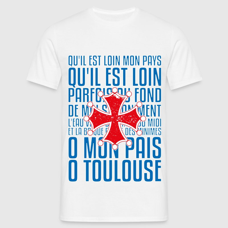 T-shirt France bleu blanc rouge: O Toulouse Tee shirts - T-shirt Homme
