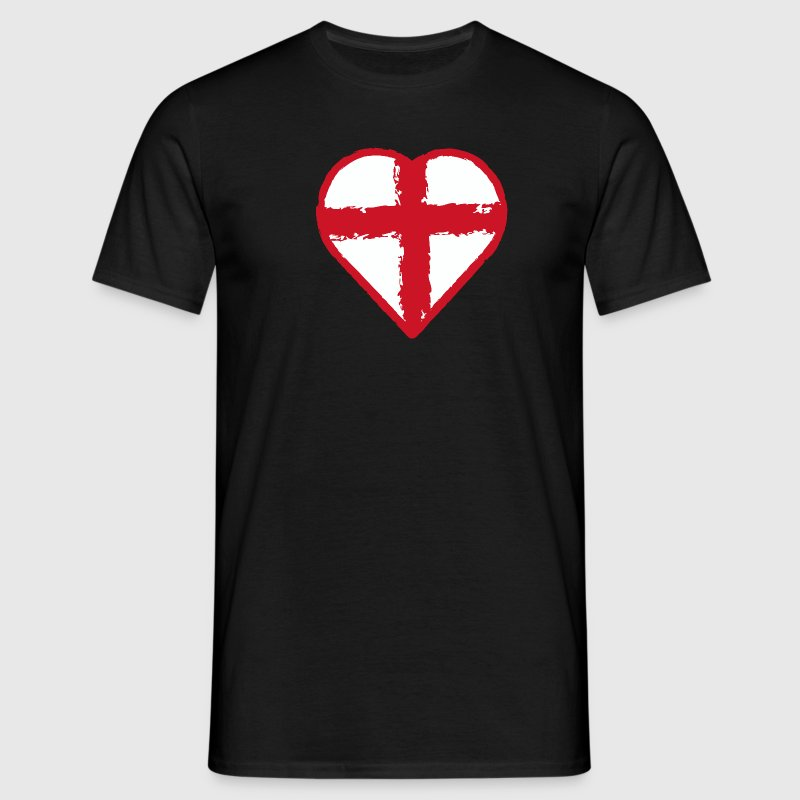 English pride - Heart flag St George Cros - Men's T-Shirt