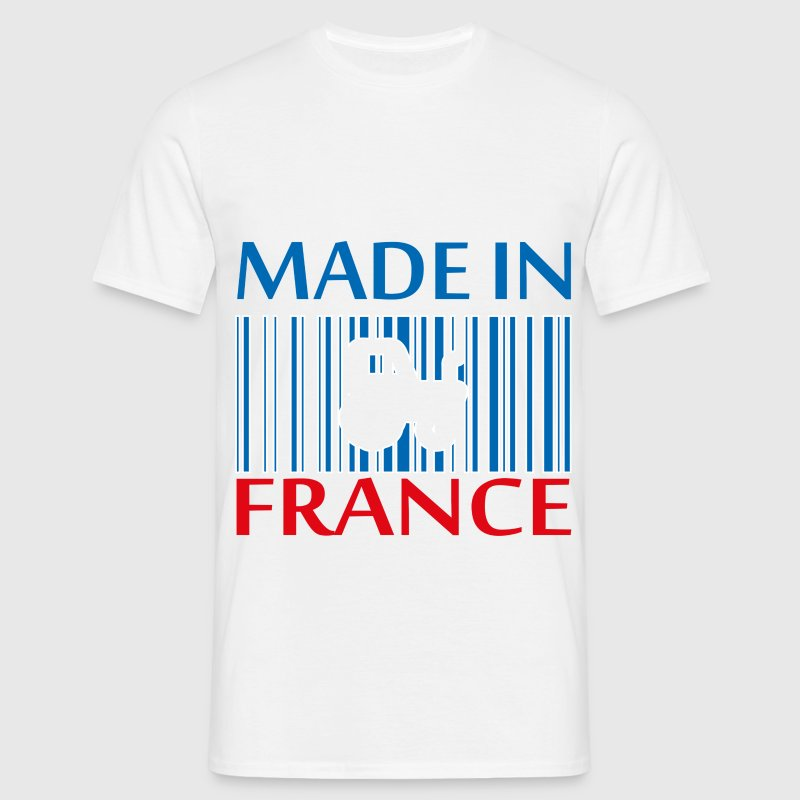 T-Shirt Made in France tracteur bleu blanc rouge - T-shirt Homme