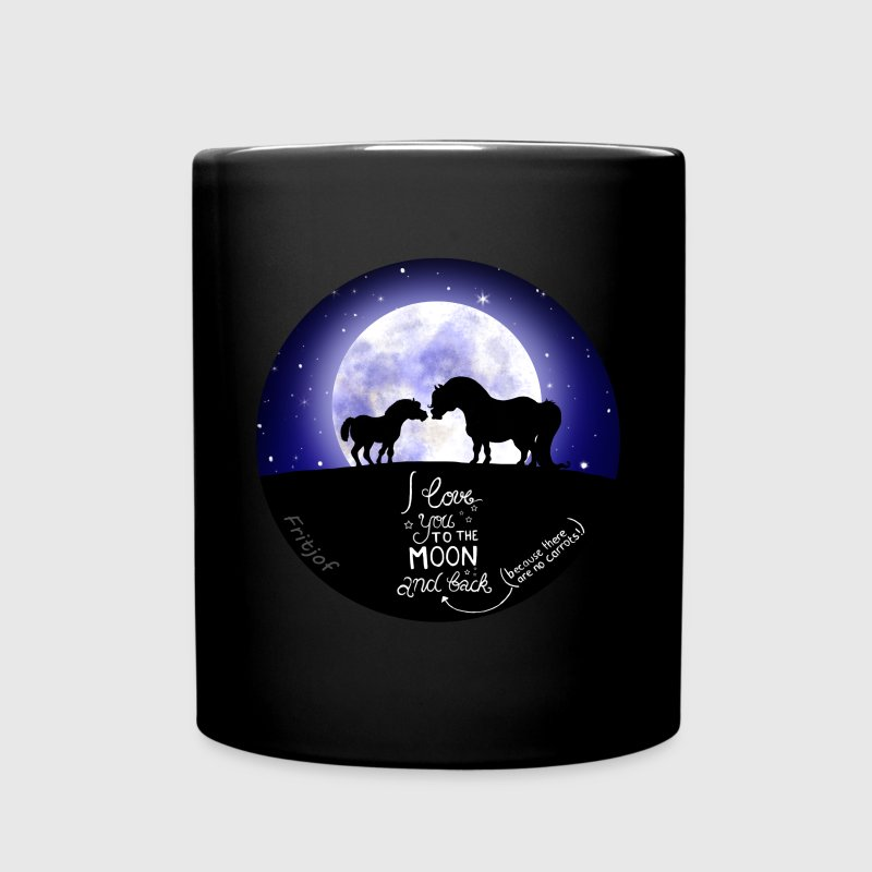 to the moon and back Tassen & Zubehör - Tasse einfarbig
