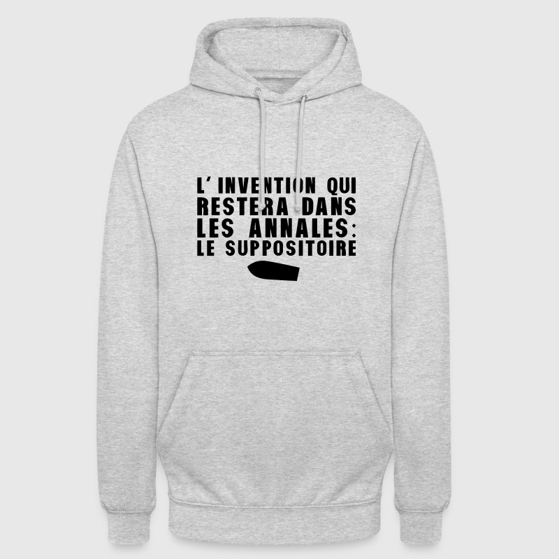 invention annales suppositoire humour Sweat-shirts - Sweat-shirt à capuche unisexe