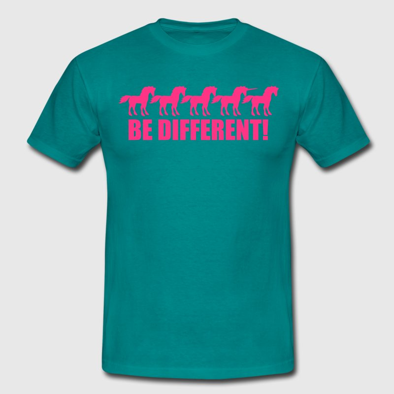 reihe be different unicorn pferde muster design ei T-Shirts - Männer T-Shirt