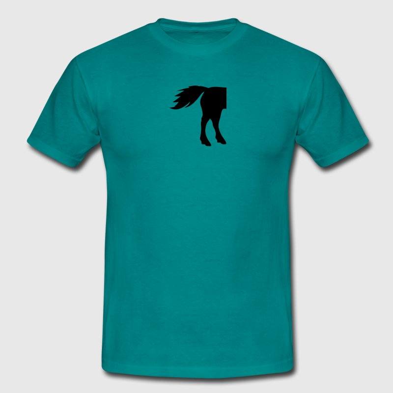 horses ass butt buttock horse outline silhouette s T-Shirts - Men's T-Shirt