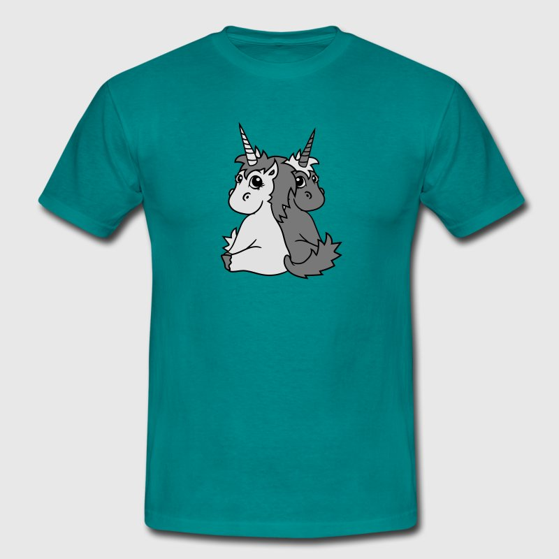 licornes licorne couple couple love love 2 cute ch Tee shirts - T-shirt Homme
