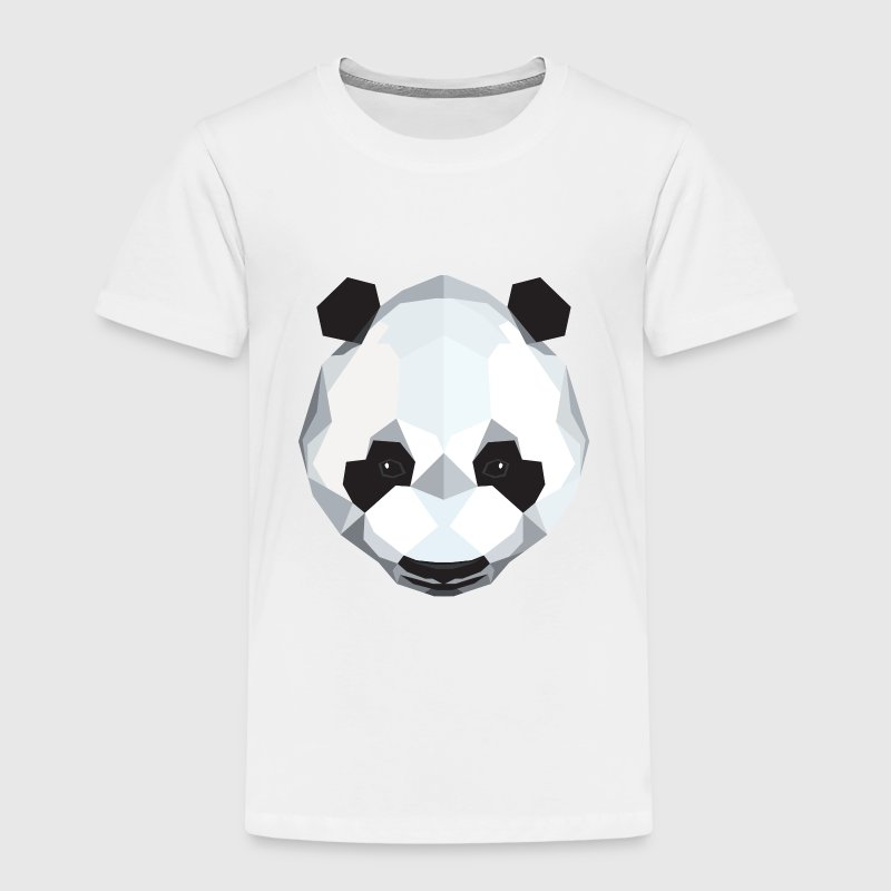 Geometric Panda (Low Poly) Shirts - Kids' Premium T-Shirt