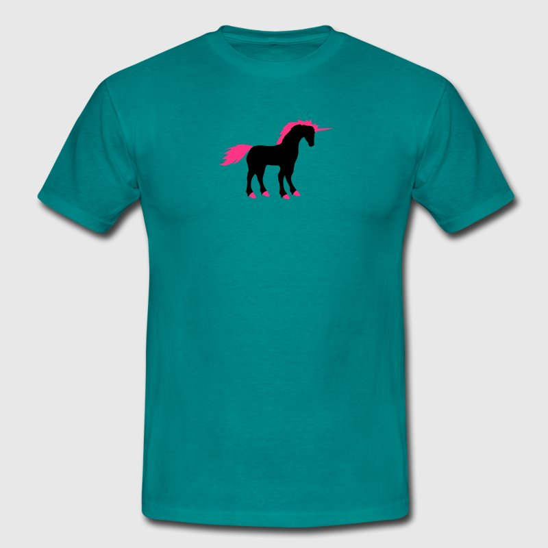 licorne rose cheval contour silhouette ombre symbo Tee shirts - T-shirt Homme